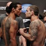 【UFC150】公開計量、力の入るエドガー×目が血走るベン・ヘン