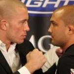 【UFC91】早くも緊張感が走る――、GSP×BJ