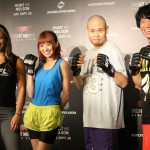 【UFN52】UFC JAPAN応援イベントでミーシャ・テイトが南明奈&品川庄司に格闘技レッスン