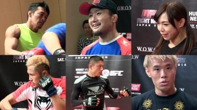 【動画】UFC JAPAN 2014公開練習。五味隆典、秋山成勲、中井りん、金原正徳、堀口恭司、徳留一樹が参加