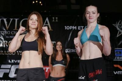 【写真】何かと早熟なカロリーナ、MMAに関しては満を持してのプロデビューといったところか(C)ESTHER LIN/INVICTA FC