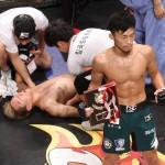 【DEEP CAGE】韓国人柔術ファイターを、和田がサッカーボールキック葬