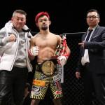 【GRACHAN20】手塚基伸が2試合連続の秒殺TKO勝ちで王座防衛、大澤茂樹戦&2階級制覇をアピール