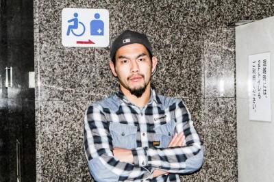 【写真】「モデルもどきには負けない」と言いながら、こんな表情も披露した濱村(C)MMAPLANET
