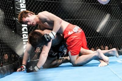 【写真】組み技では山田が上。それだけにいかに組むかカギを握る(C)MMAPLANET