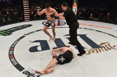 【Bellator148】試合結果 ポール・デイリー、120秒KO勝ち。鉄人Jrはフレイレ兄の左に沈む