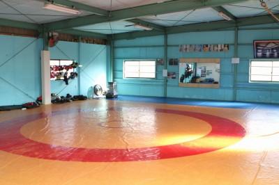 【写真】三郷メガジム。2階にはレスリングマットと竿本が生活する合宿所がある(C)MMAPLANET