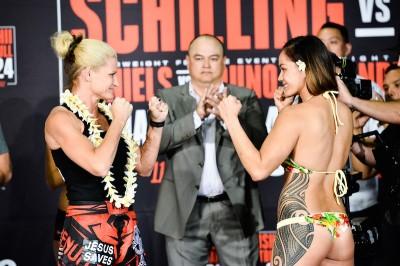 女子フライ級MMAマッチに出場するイリマレイ・マクファーレンの水着が過激だった……(C)BELLATOR