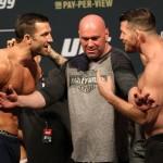 【UFC199】計量終了 ロックホールド×ビスピン、ドミニク×ユライア――丁々発止のフェイスオフ