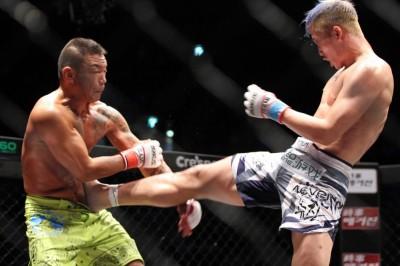 昨年7月の日本大会ではBullい勝利のホン・ヨンギ。MMA戦績は3勝2敗、上迫には圧倒的な勝利が望まれる(C)MMAPLANET