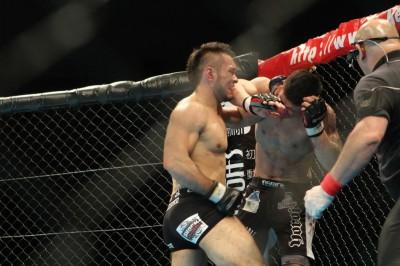 エンリケ・スギモトは2015年3月にBellatorで活躍中の加藤久輝に殴り勝っている(C)MMAPLANET