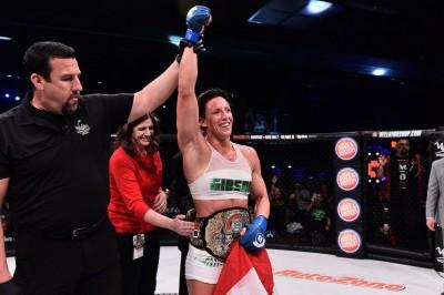 【Bellator174】試合結果 初代女子フェザー級王者はバッド──ロバトJr、打撃で秒殺デビュー