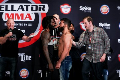 【Bellator178】計量終了 王者ストラウス「これが最後」×挑戦者フレイレ「息子への贈り物」