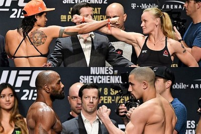 【UFC213】計量終了 ヌネス「ベルトを持ち帰る」×シェフチェンコ「ナンバーワンになる」