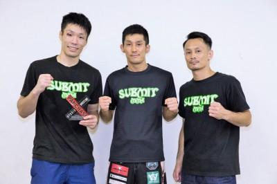 二人三脚の兄・室伏カツヤとネオブラバンタム級優勝を決めた山本哲也と共に喜びを分かち合っていた (C)KAORI SUGAWARA