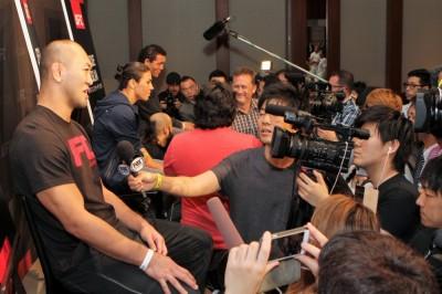 メディアデーでは、非常に多くの記者から質問を受けていた岡見。本人も「これまでで一番注目されています」と笑っていた。