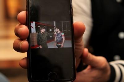 携帯に残っていたカディロフ首長とツーショット