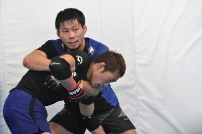 中村K太郎、青木真也、北岡悟、金原正徳ら錚々たるメンバーとTTMのプロ練習で汗を流す工藤