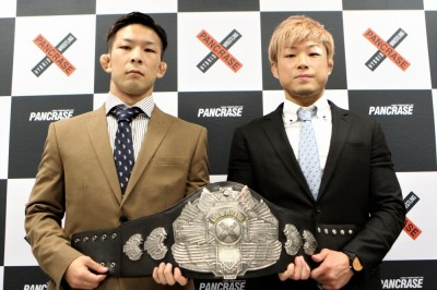 【Pancrase295】松嶋と暫定フェザー級KOP決定戦調印式。ISAO 「経験があるからどうのこうのではない」