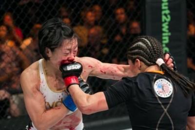 2014年6月にWSOF世界戦をジェシカ・アギラーと戦う