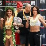 【Bellator213】計量終了 マクファーレンのハワイ愛、再び。プレリミに田中路教の盟友ナカガワ出場