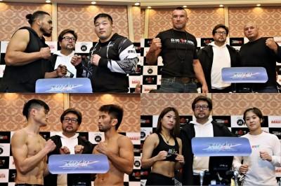 【HEAT44】計量終了 MMAマッチは体重オーバーなし。キック出場のレバンナ「ガヌーと練習している」