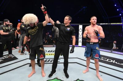 【UFC254】試合結果 ヌルマゴメドフが王座統一→引退。ケニー✖ウッド、ベストバウト