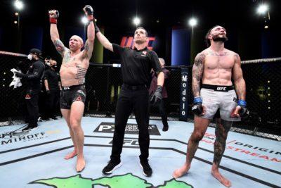 【UFC ESPN11】試合結果 半端ない打撃戦でエメットがバーゴスに殴り勝つ。ロクサンはマーフィーに敗れる