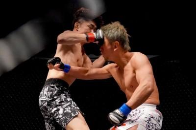 【Fight&Mosh02】一発当ててからのラッシュ、最後は右で渡辺を頭から沈めた内藤がKO勝ち