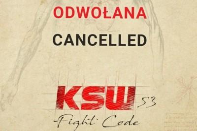【KSW53】ポーランドのKSWも3月21日に予定されていたウッチ大会=KSW53の中止を発表