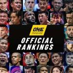 【ONE】ONEがMMA7階級、キックボクシング6階級、ムエタイ5階級のオフィシャルランキングを発表