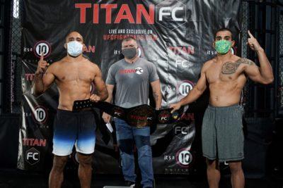 【Titan FC60】計量終了 JZ・カバウカンチ✖マンフィオはコンバットグラップリング王座決定戦に