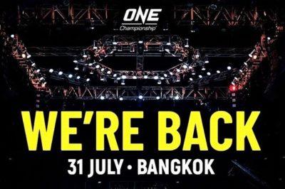 【ONE】ONEチャンピオンシップが、7月31日にバンコク大会開催。Dark Seriesもキックオフ!!