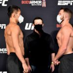 【UFC ESPN12】計量終了 拳でGo!! 佐藤天、5人目の対戦相手ウィットとフェイスオフ