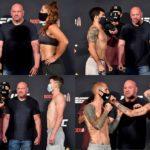 【UFC250】計量終了 体重オーバーなし。拳タッチ、肘タッチ? コロナ時代のフェイスオフ