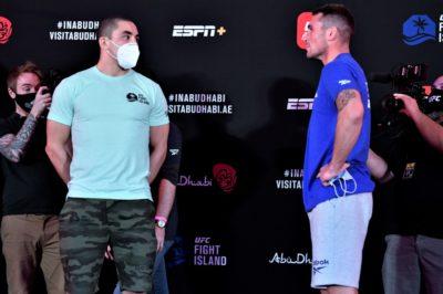 【UFC ESPN14】計量終了 ウィティカー✖ティル。グスタフソンがヘビー級で。10日前に続きチマエフ