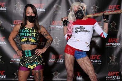 【Invicta FC40】計量終了 RENAと1勝1敗のヴァンサントがマスク姿のハーレー・クインに