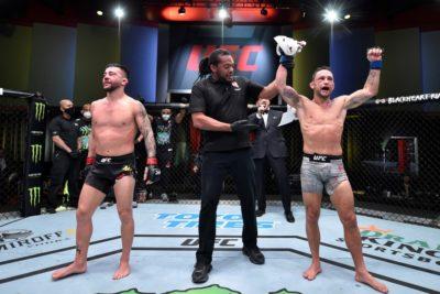 【UFC ESPN15】優劣なし。5R、25分間動き続けた両者、エドガーがスプリットでムニョスに勝つ