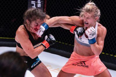 【UAEW12】女子マッチのフランス語圏対決は打撃で圧倒したフィルホが、ラフロンボワーズをTKO