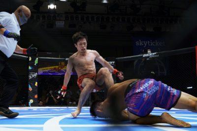 【DEEP97】牛久絢太郎に敗れ、ベルトを失った弥益ドミネーター聡志「100%の自分が跳ね返された結果」