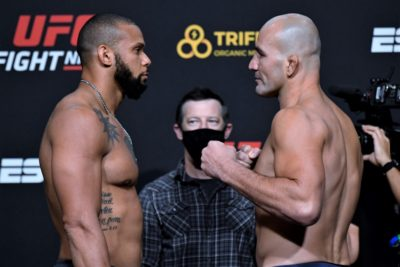 【UFC ESPN17】計量終了 両者陽性で2度流れたマヘタ✖テイシェイラ。バルセロス、シャオナンも注目
