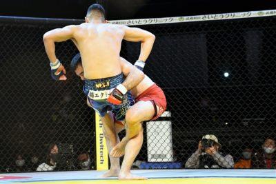 【Pancrase320】「若手の壁」。村山暁洋がレスリング&柔道でテイクダウンを奪い、菊入正行を退ける