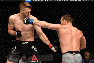 【UFC257】マイケル・チャンドラー、左フックからパウンド!! 150秒でダン・フッカーを倒し、UFC初勝利