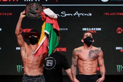 【Bellator258】計量終了 アルチュレタ「最高の動きを」✖ペティス「僕の番」。ペレスのマスクが面白い