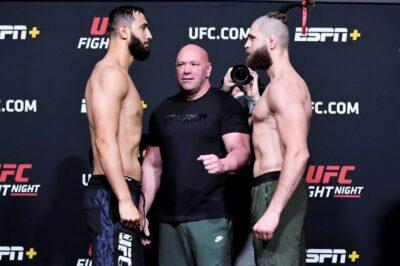 【UFC ESPN23】計量終了 プロハースカに挑戦権奪取の好機。デヴァリシビリ✖ステーマンは痺れるレス決戦