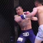 【Pancrase321】右を振りまわし勝負を賭けた田村一聖が、中田大貴に壮絶TKO負け