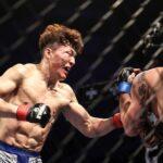 【Double GFC07】殴り、殴られ。倒し、倒され。キ・ウォンビンがボディ連打で暫定ライト王者に