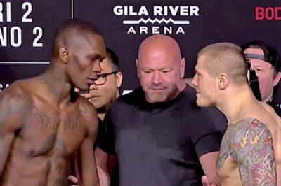 【UFC263】計量終了 アデサニャ✖ヴェットーリ&フィゲイレド✖モレノ II。先週戦ったマッキニーに注目