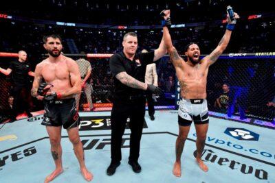 【UFC264】前足を削り、パンチでダウンを奪ったグリフィンが3-0でコンディット越え