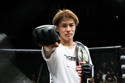 【Shooto2021#04】TDから完封の三角絞め、平良達朗が福田龍彌からタップを奪い世界フライ級王座を奪取